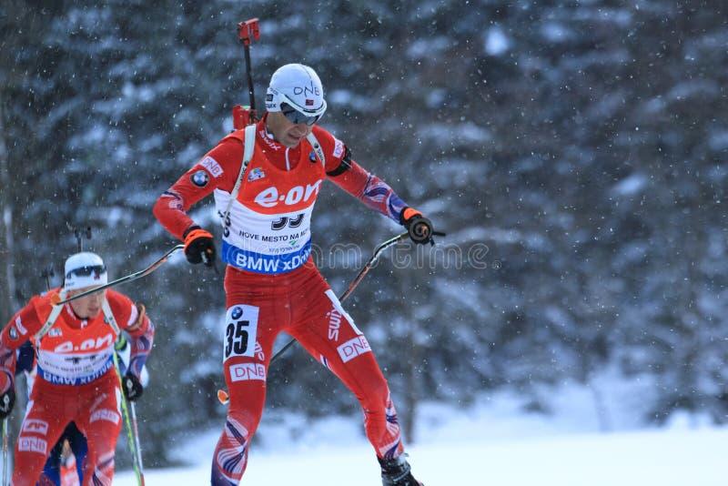 Ole Einar Bjoerndalen - biathlon imágenes de archivo libres de regalías