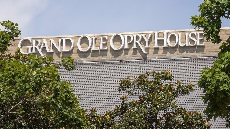 Ole Opry House magnífico en Nashville, Tennessee foto de archivo libre de regalías