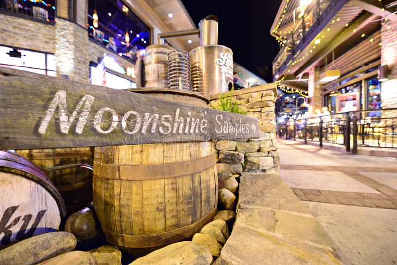 Ole Smoky Moonshine Holler fotografie stock libere da diritti