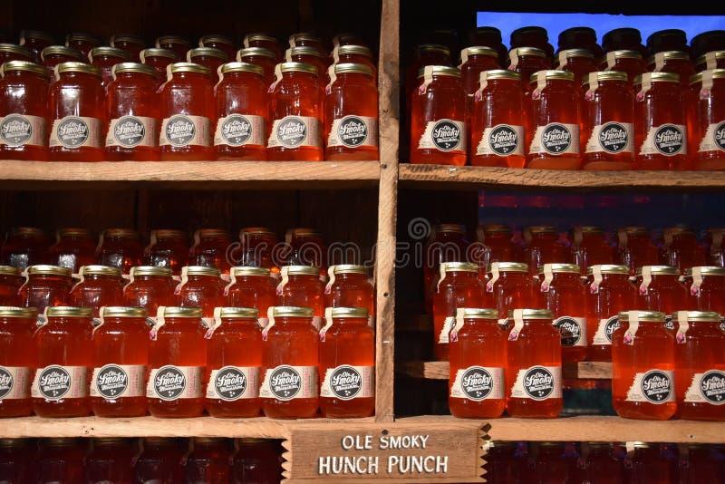 Ole Smoky Moonshine Holler in Gatlinburg, Tennessee fotografia stock libera da diritti