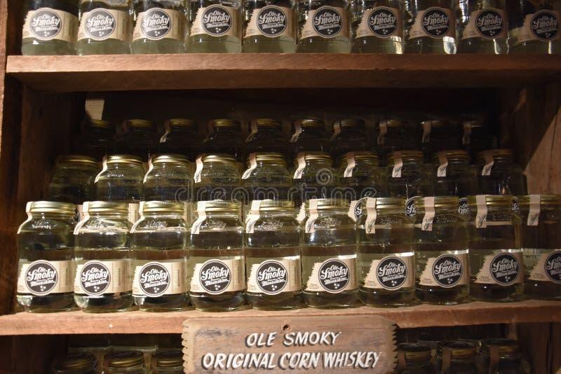 Ole Smoky Moonshine Holler in Gatlinburg, Tennessee immagine stock libera da diritti