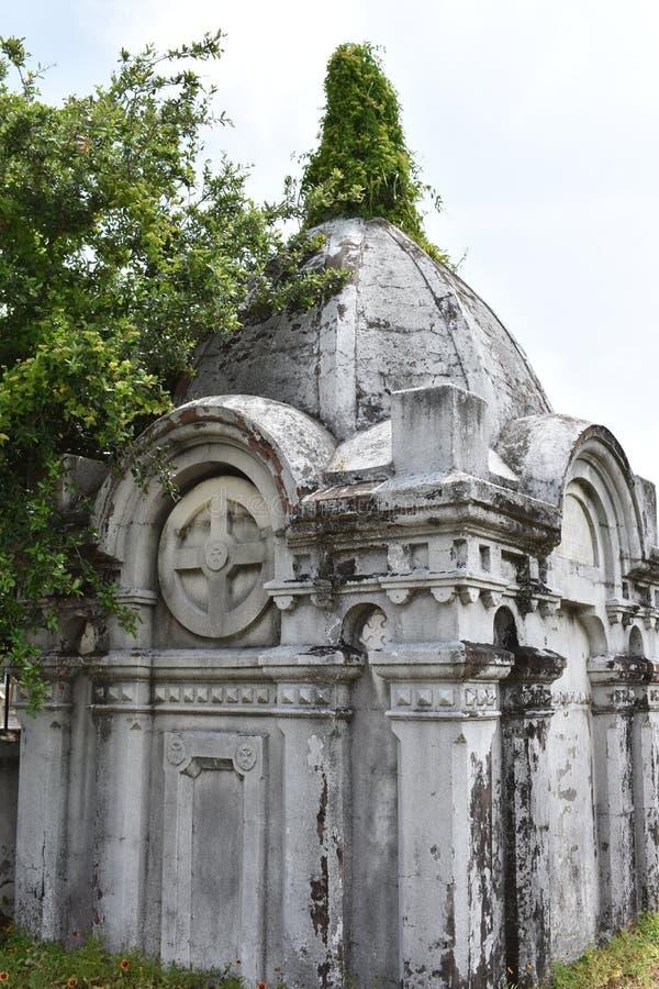 Oleanderkyrkogård i Galveston TX efter 1839 royaltyfria foton