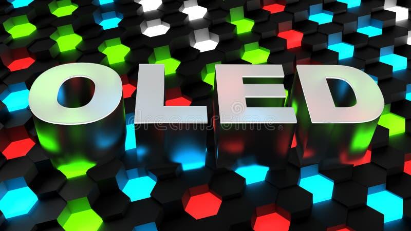 OLED (organic light-emitting diode). Computer generated image 3D render vector illustration