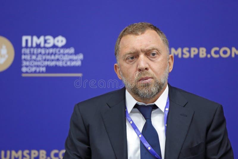 Oleg Deripaska стоковая фотография