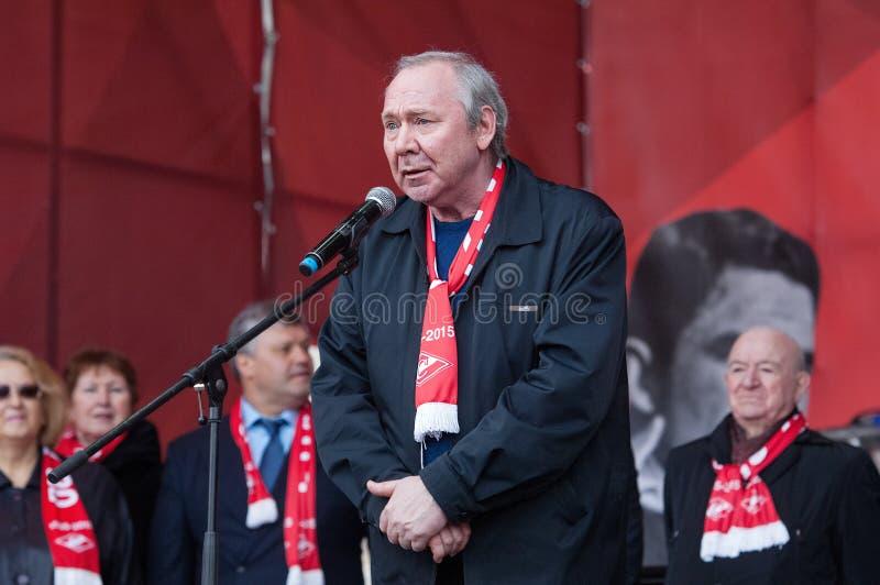 Oleg Romantsev, entraîneur légendaire d'équipe de Spartak image stock