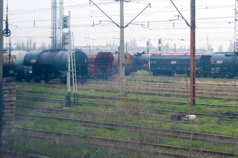 Olejów pociągi zdjęcia royalty free