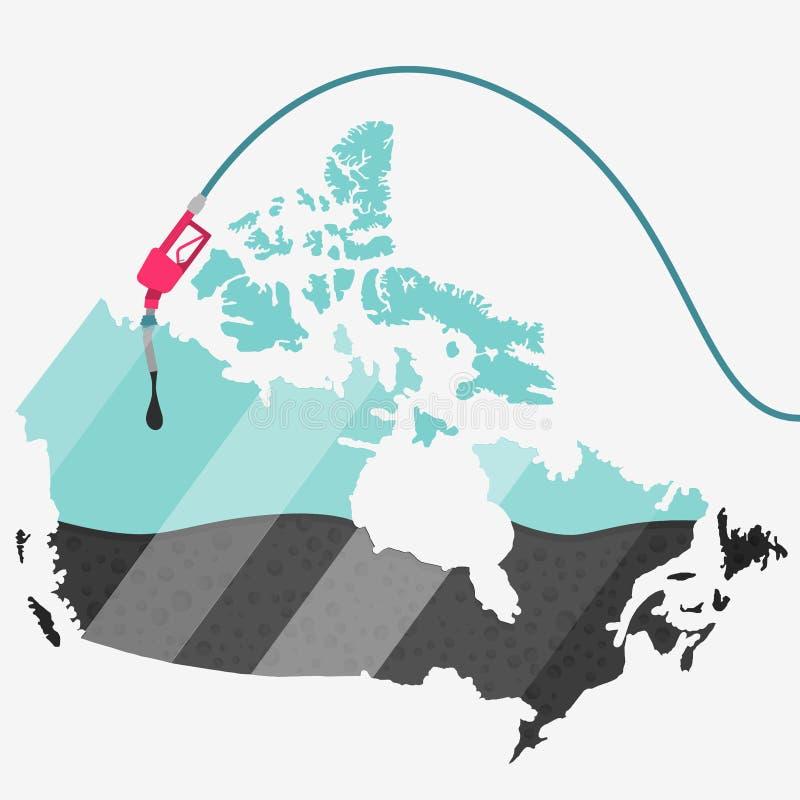 Olej Kanada royalty ilustracja