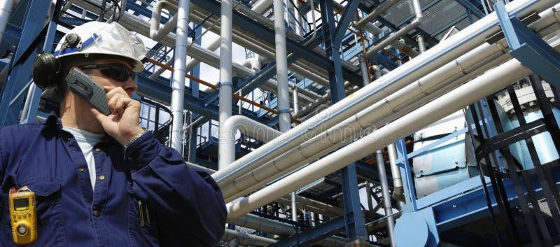 oleju gazowego panoramiczny przemysłu zdjęcia stock