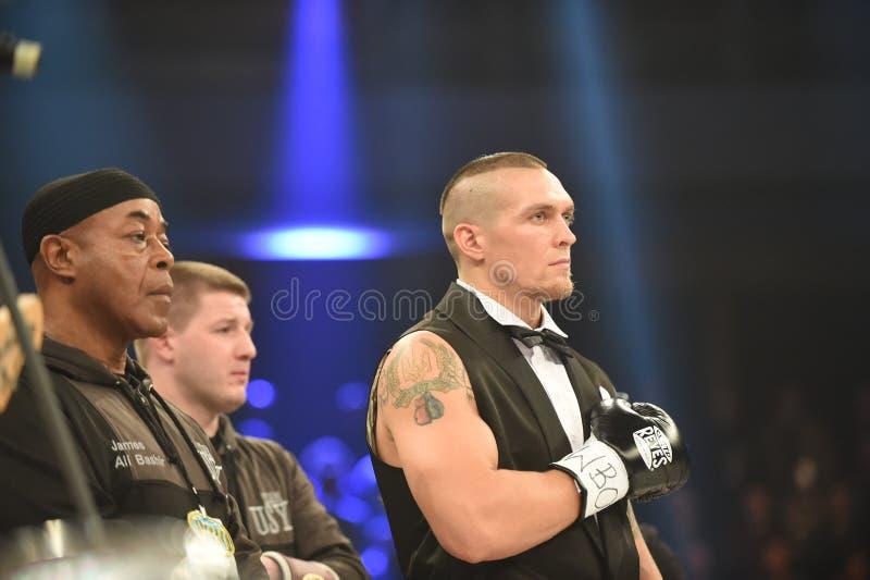 Oleksandr Usyk Inter--kontinental cruiserweightmästare för WBO royaltyfri bild
