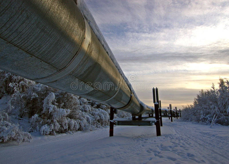 Oleodotto dell'Trasporto-Alaska fotografia stock