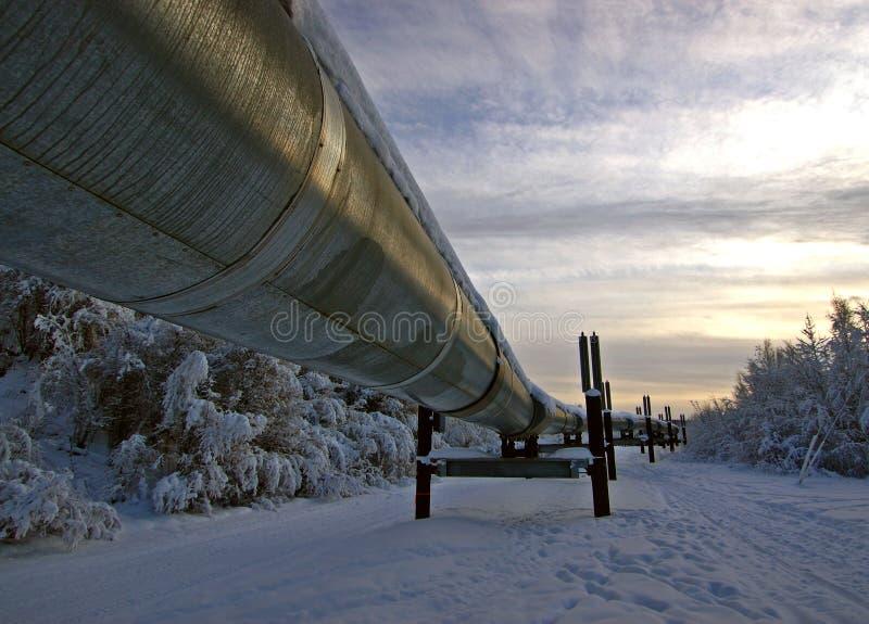 Oleoducto de Transporte-Alaska fotografía de archivo