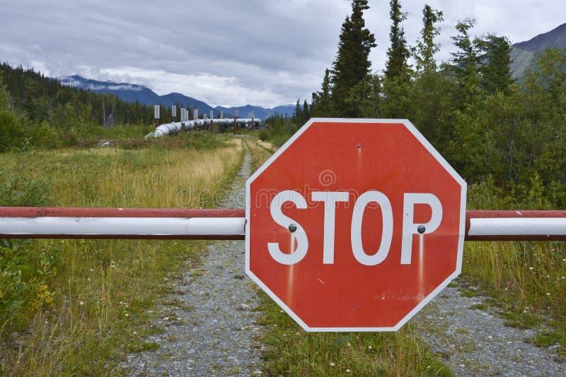 Oleoduto de Transporte-Alaska fotografia de stock royalty free