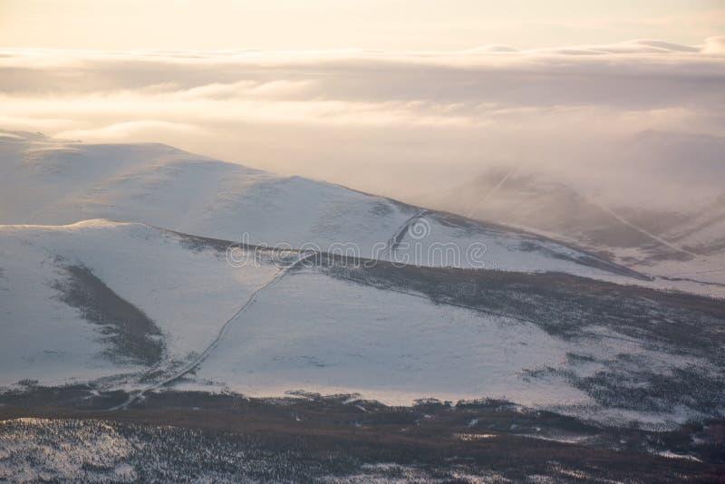 Oleoduto do Alasca imagens de stock