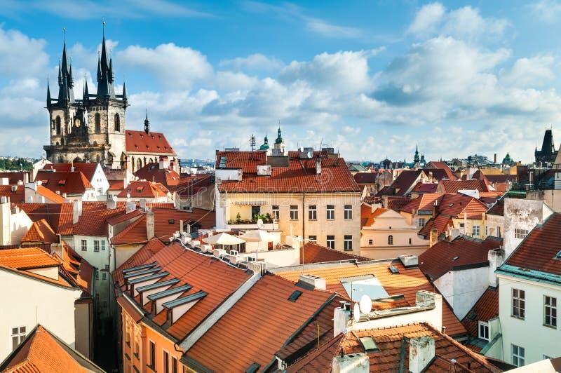 Olf Praga dachy zdjęcie royalty free
