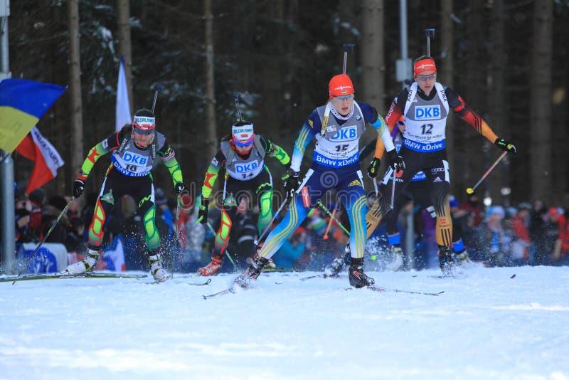 Olga Abramova - biathlon fotografering för bildbyråer