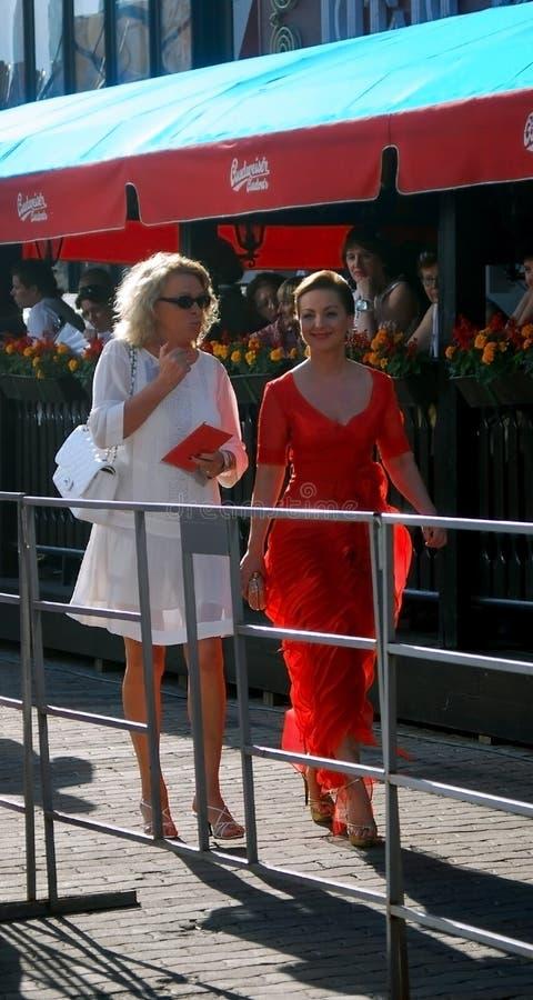 Olga Budina al festival di pellicola di Mosca fotografia stock