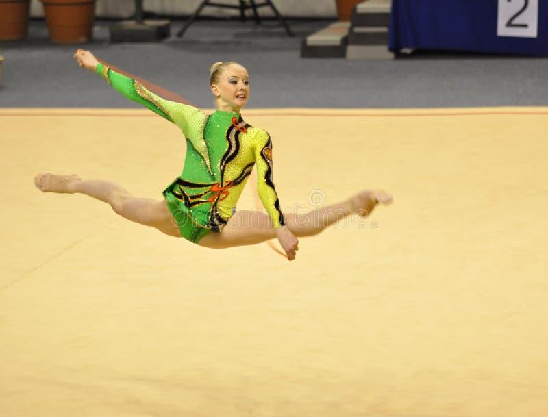 Olga Stryuchkova performing at rope stock images