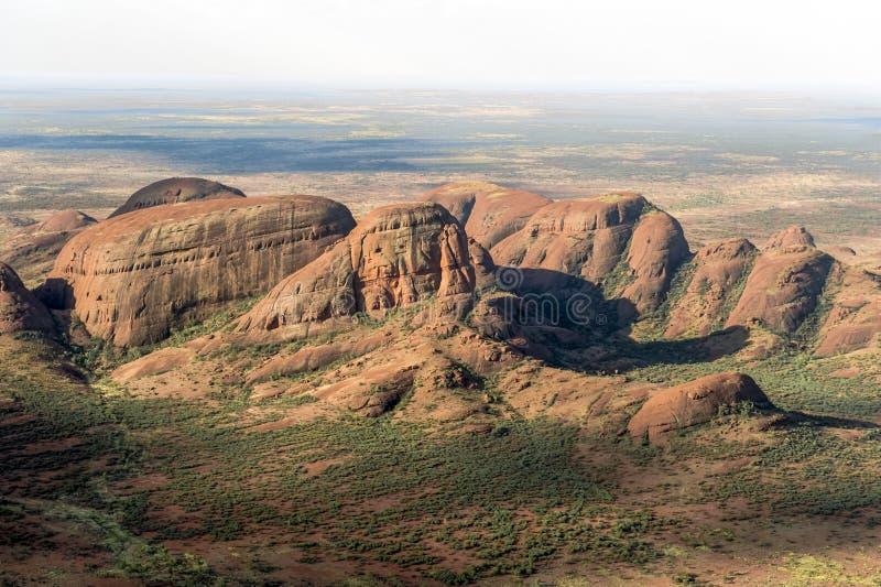 The Olgas - Kata Tjuta - Australia - aerial view royalty free stock photo
