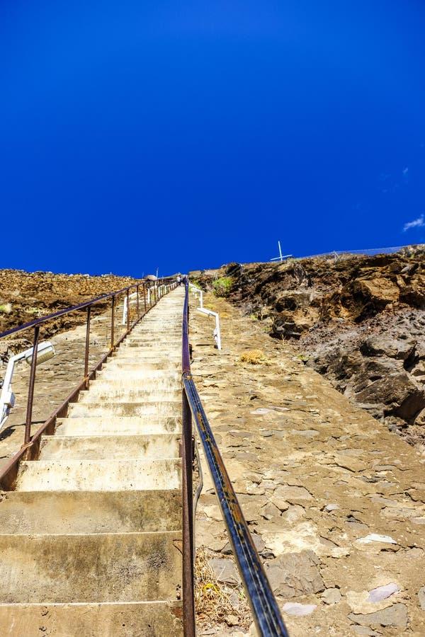 Olhando acima Jacobs Ladder St Helena fotos de stock royalty free
