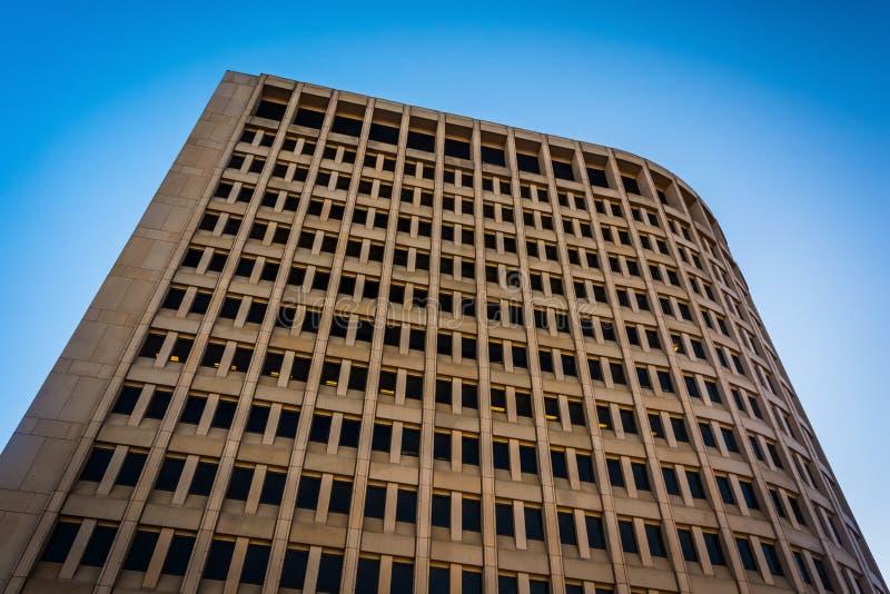 Olhando acima na construção de Brandywine em Wilmington do centro, De imagem de stock royalty free
