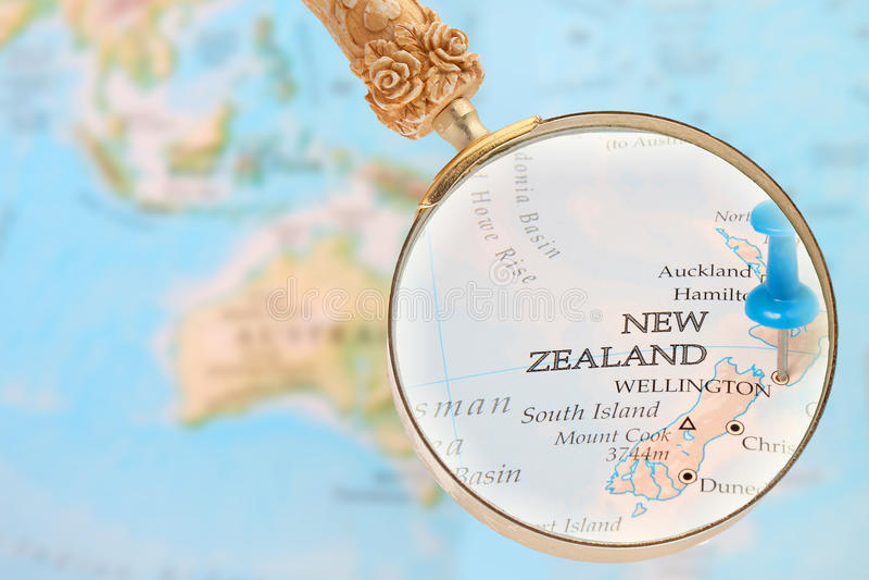 Olhando dentro em Wellington, Nova Zelândia fotos de stock royalty free