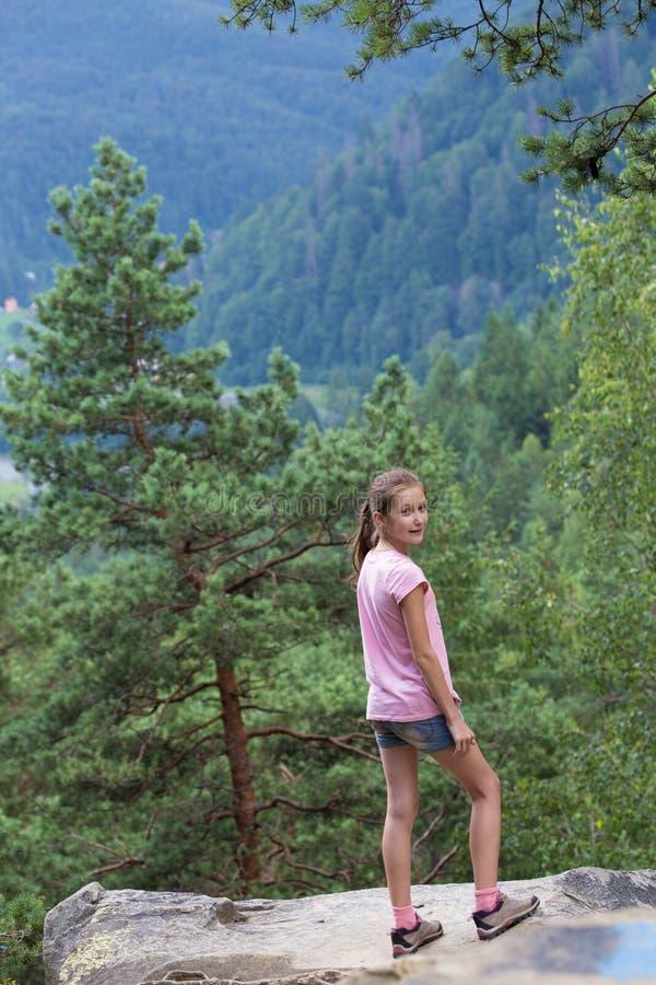 Olhando a floresta das montanhas imagem de stock royalty free