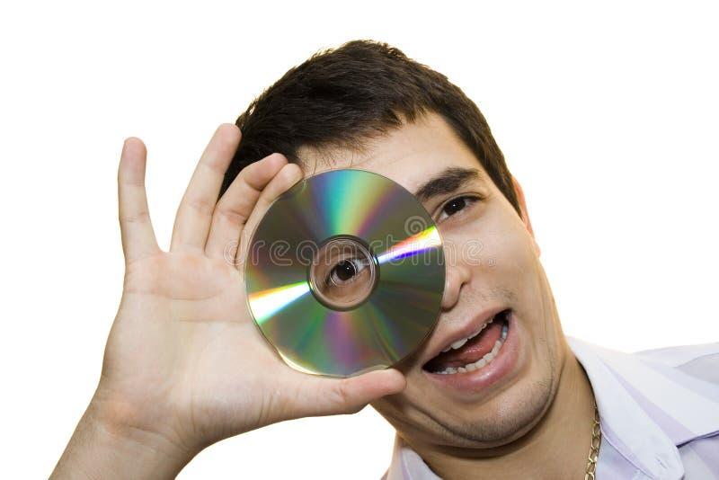 Olhando o II. cd. foto de stock