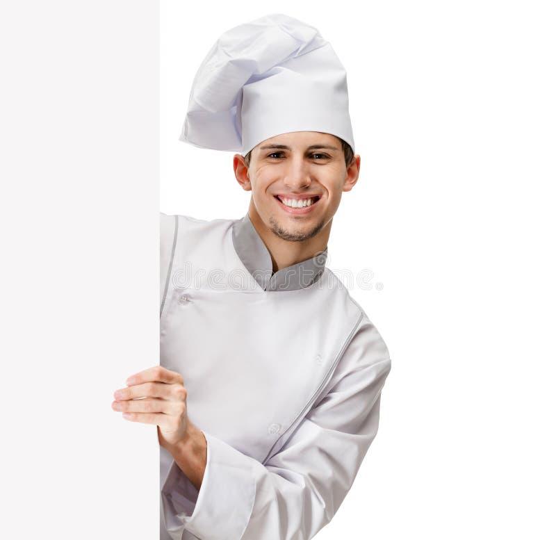 Olhando para fora o cozinheiro imagem de stock royalty free