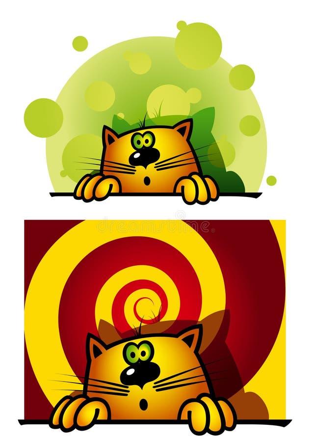 Olhando para fora o gato ilustração stock