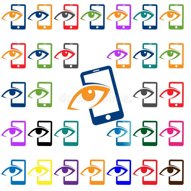 Olhar do ícone do vetor do telefone celular fotos de stock