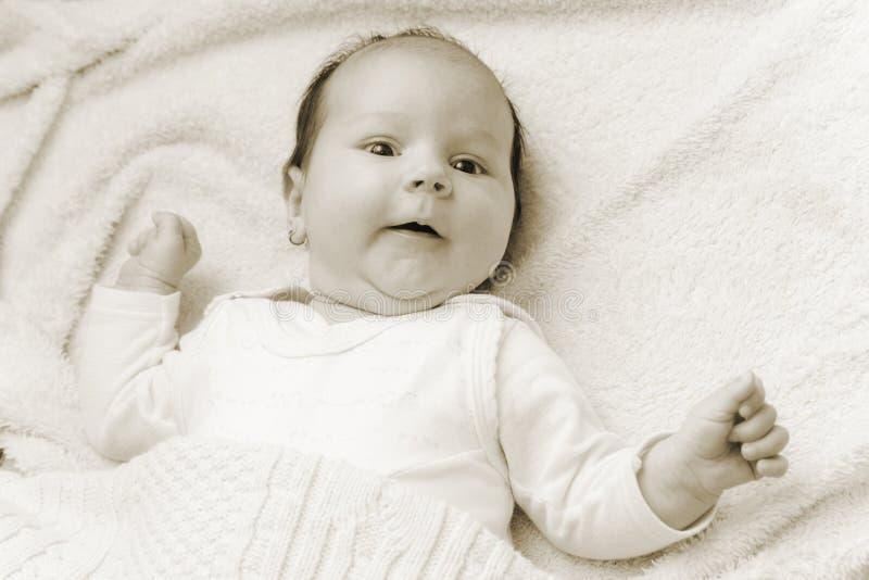 Olhar do bebê fotografia de stock royalty free