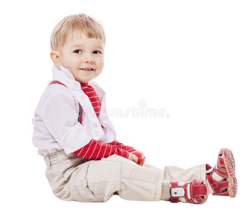 Olhar do menino ausente fotografia de stock royalty free