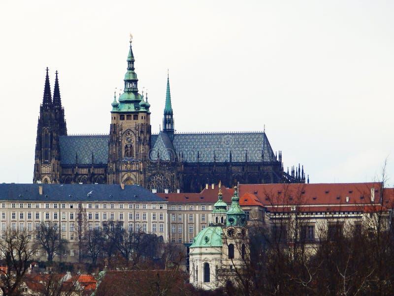 Olhar fixo Mesto, St Vitus Cathedral Praga, República Checa fotos de stock royalty free