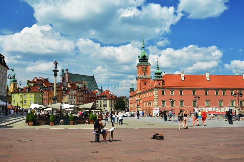 Olhar fixo velho Miasto Varsóvia da cidade imagens de stock