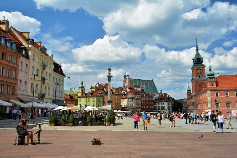Olhar fixo velho Miasto Vars?via da cidade imagens de stock royalty free