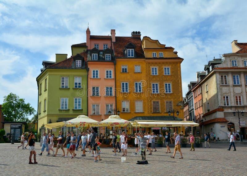 Olhar fixo velho Miasto Vars?via da cidade, quadrado do castelo fotos de stock royalty free