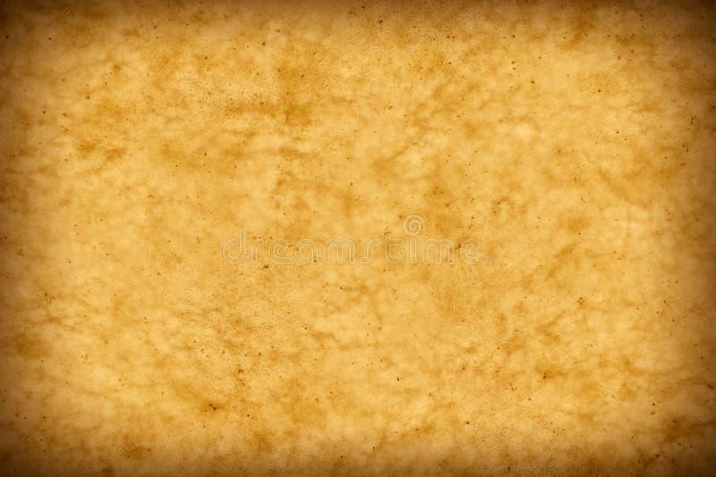 Olhar velho do papel de pergaminho