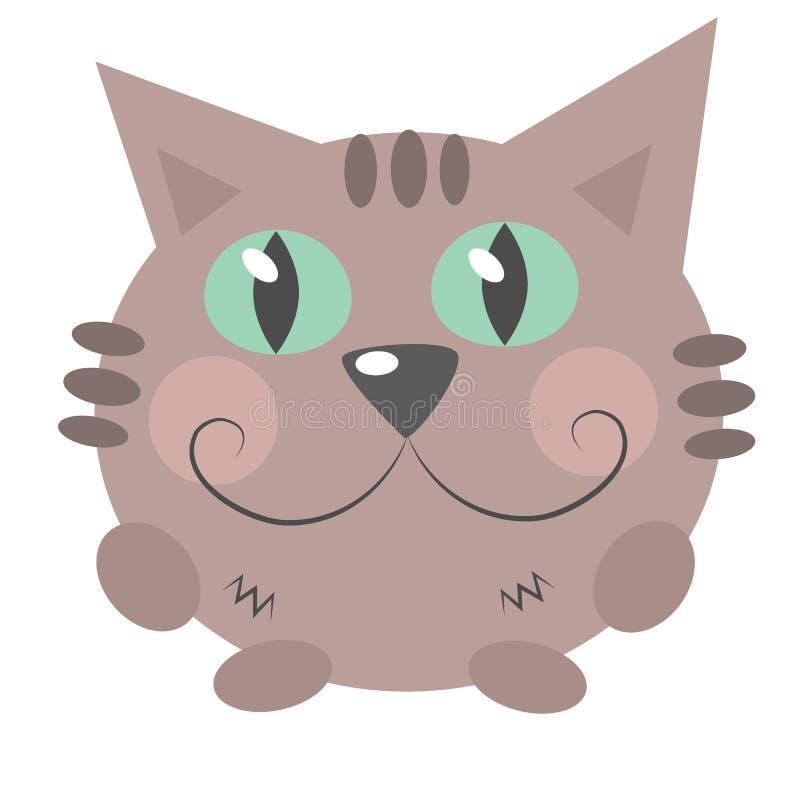 Olhares e sorrisos do gato imagem de stock