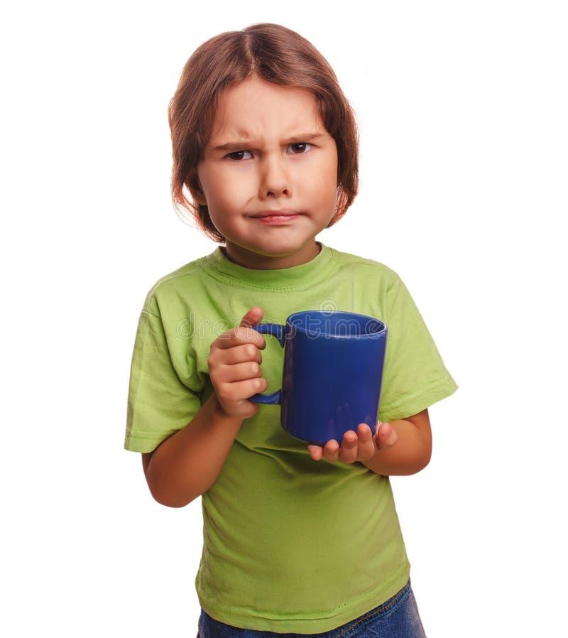 Olhares severos descontentados da criança da menina virados fotografia de stock royalty free
