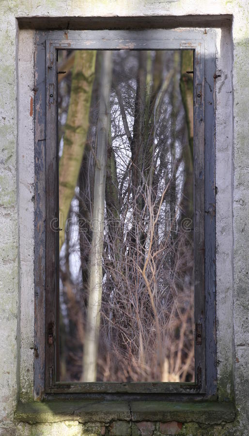 Olhe através da janela imagens de stock