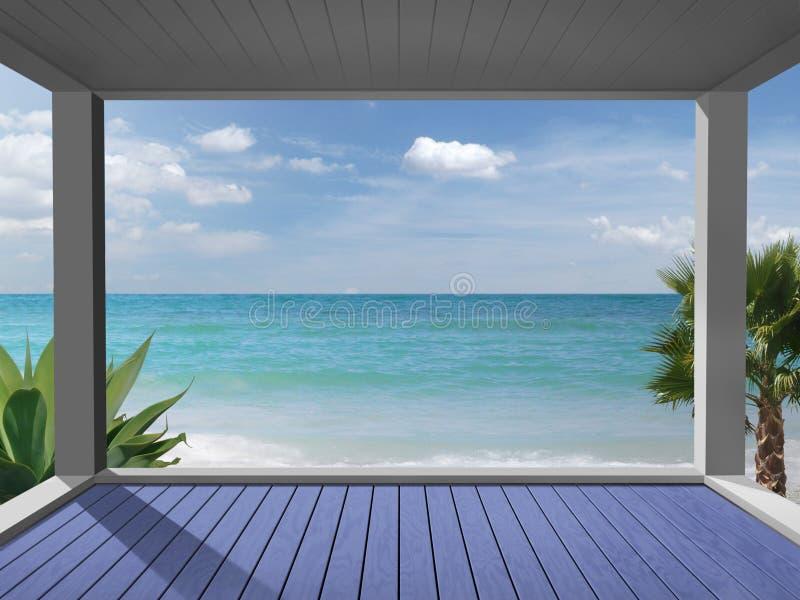 Olhe de uma Praia-casa foto de stock royalty free