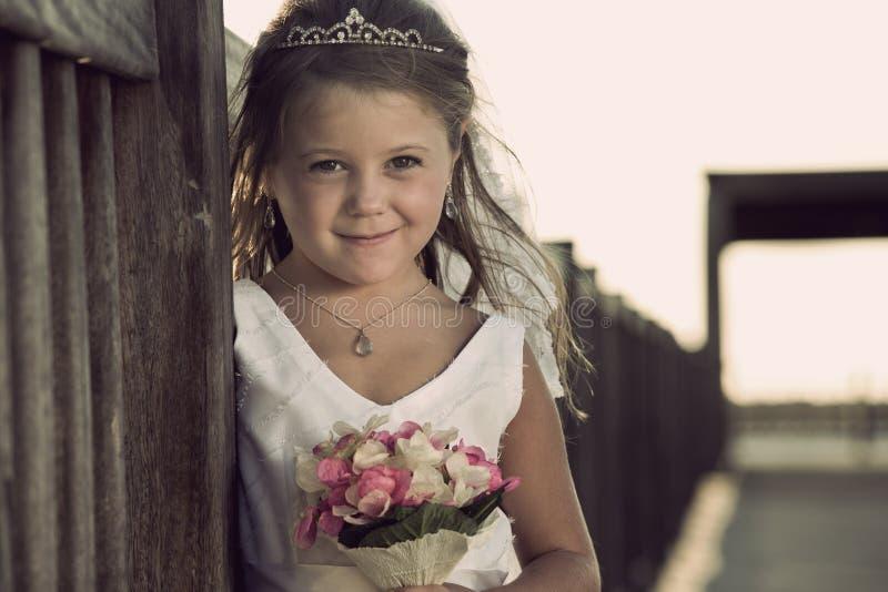 Olhe a menina fotografia de stock