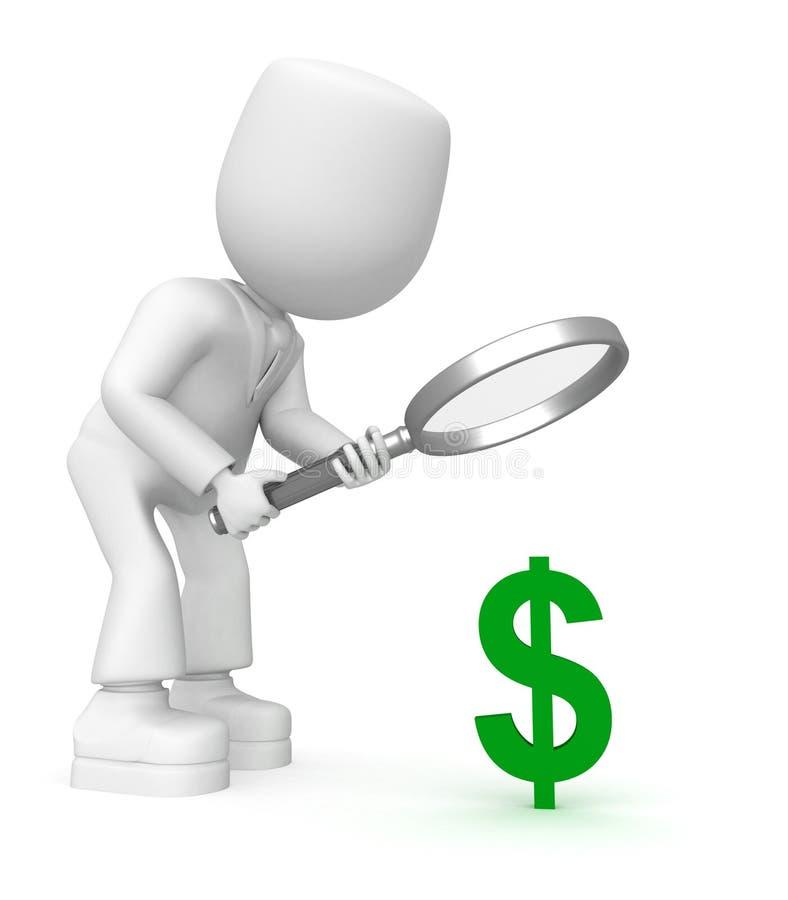 Olhe no dólar ilustração royalty free