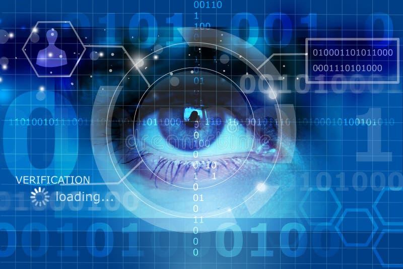 Olho biométrico da seleção ilustração royalty free