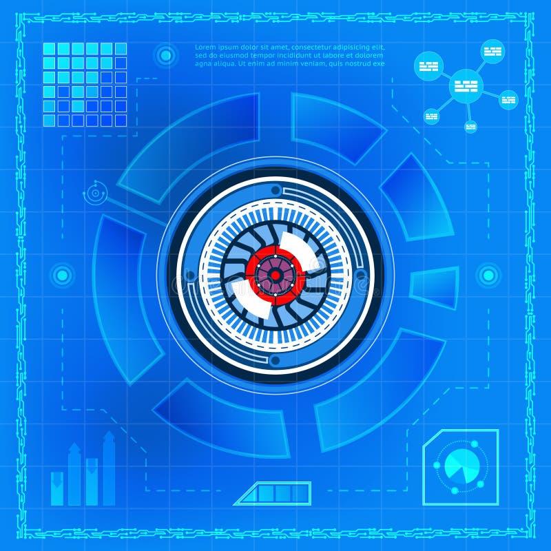 Olho biométrico da tecnologia ilustração royalty free
