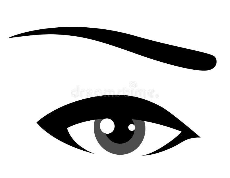 Olho cinzento ilustração do vetor