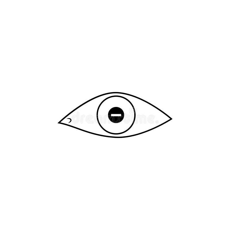 Olho com ícone dos problemas do curto-sightedness Elemento de ícones dos instrumentos médicos Ícone superior do projeto gráfico d ilustração do vetor