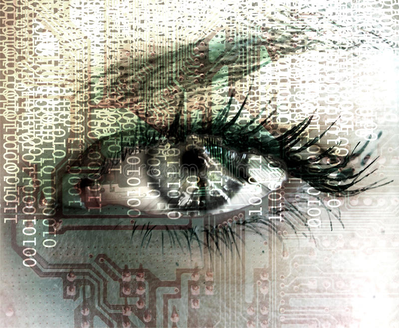 Olho Cybernetic. imagens de stock royalty free