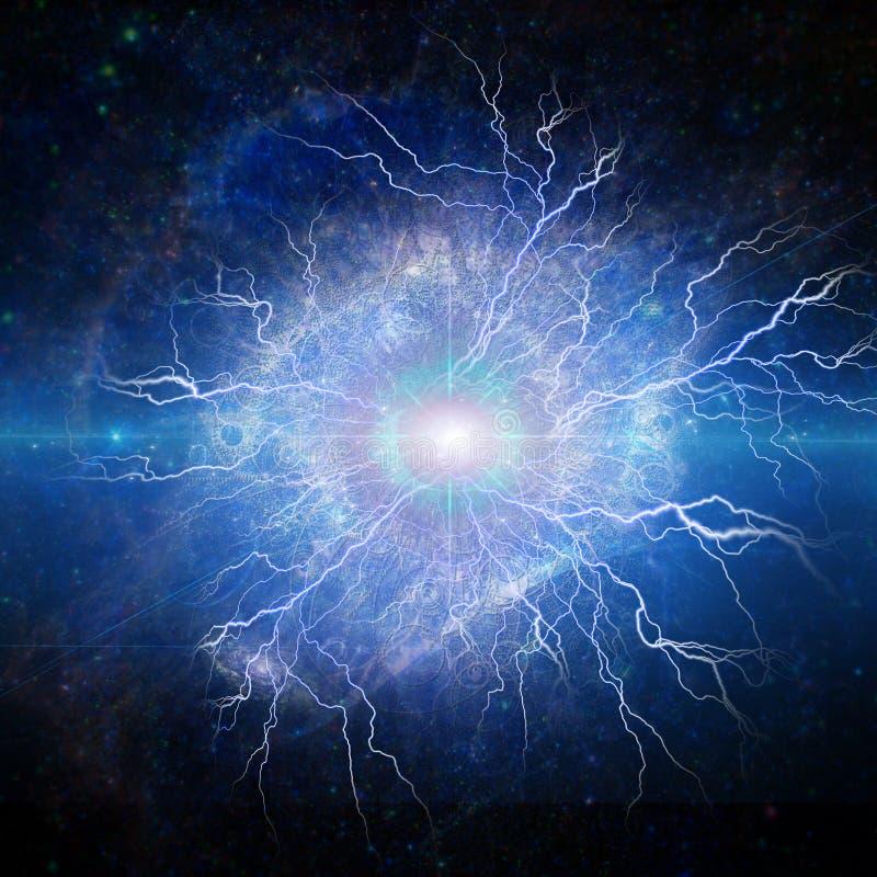 Olho da galáxia ilustração stock