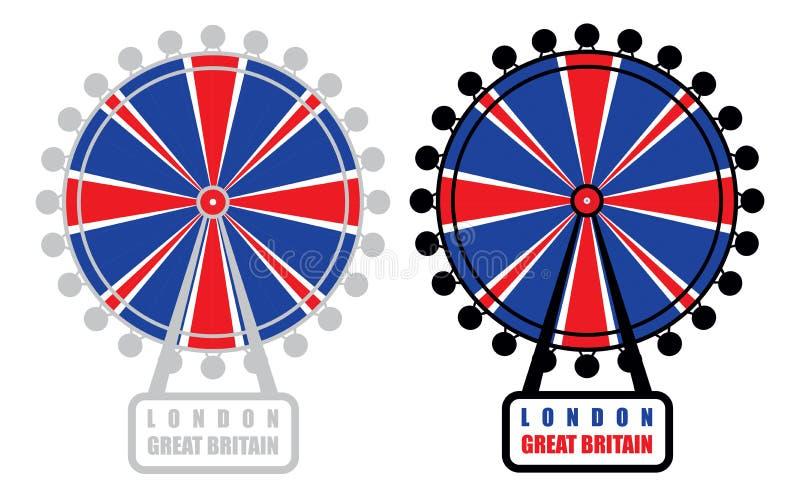 Olho de Londres ilustração do vetor
